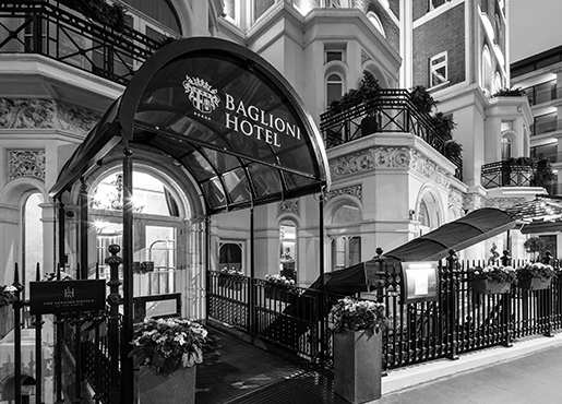 Baglioni hotel London - Exterior Entrance bw